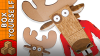 Cardboard Moose Head - Crafts Ideas For Kids