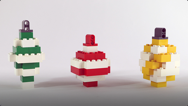 How To Build LEGO Christmas Ornaments