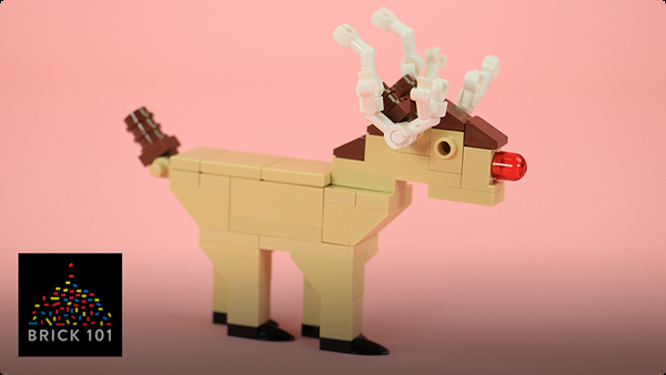 How To Build a LEGO Reindeer (Rudolph)