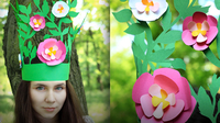 DIY Cut Paper Fairy Kids Crown