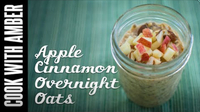 Easy Thanksgiving Morning Breakfast - Apple Cinnamon Overnight Oats | Cook With Amber