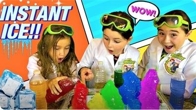 Rainbow Instant Ice Experiment