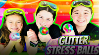 DIY Glitter Squishy Balls! How to Make Clear Stress Balls!