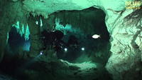 Divers Explore underwater cave system in Mexico