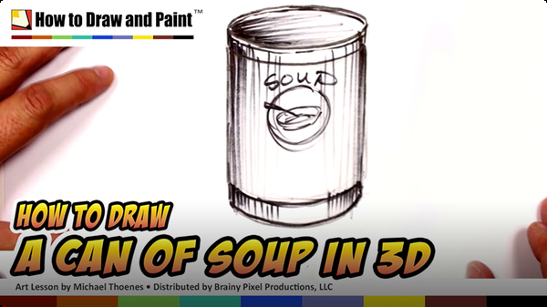 How to Draw a Can of Soup in 3D