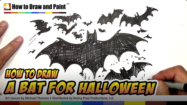 How to Draw a Bat for Halloween