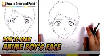 How to Draw an Anime Boy's Face