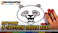 How to Draw a Cartoon Panda Bear