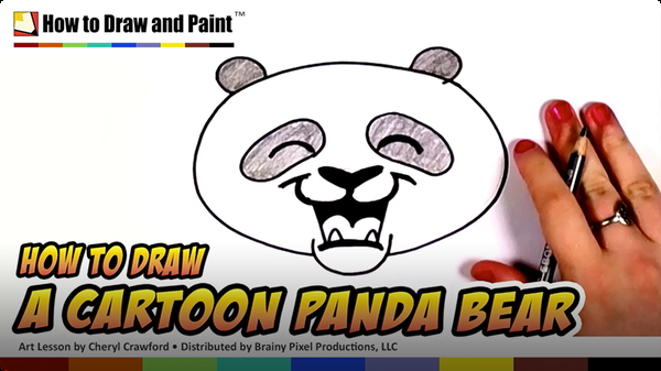 How to Draw a Cartoon Panda Bear
