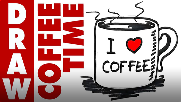 How to Draw Mug of Coffee Real Easy