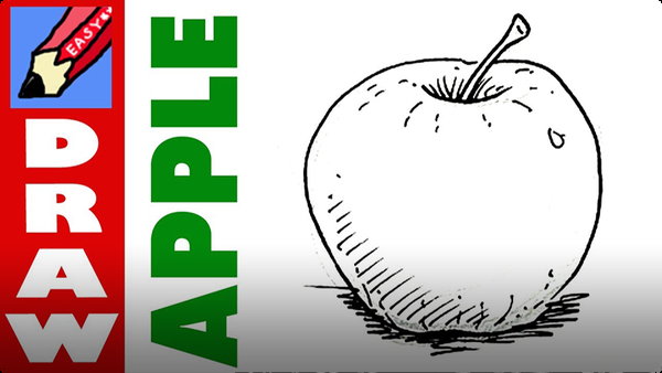 How to Draw an Apple Real Easy