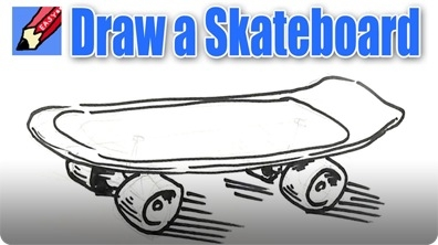 How to Draw a Skateboard Real Easy