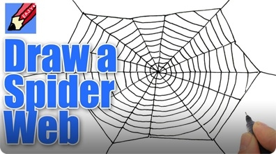 How to Draw a Spider's Web for Halloween Real Easy