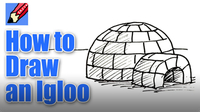 How to Draw an Igloo Real Easy