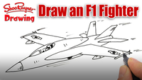 How to Draw an F-18 Fighter Plane