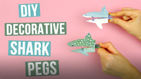 DIY Decorative Shark Pegs