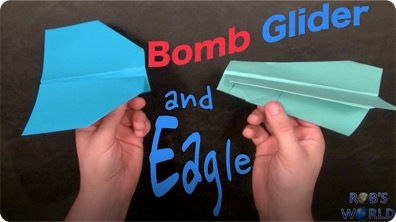 2 Easy Paper Planes – Boomerang Glider and Eagle