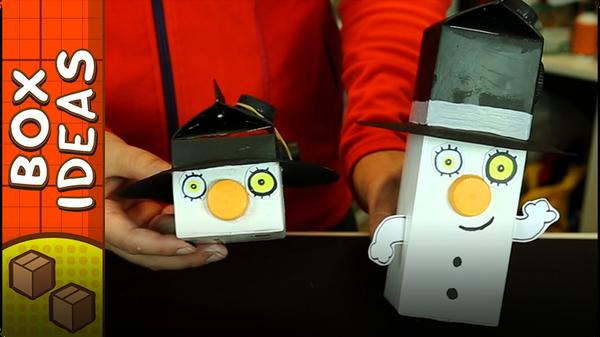Cardboard Snowman Gift Wrap