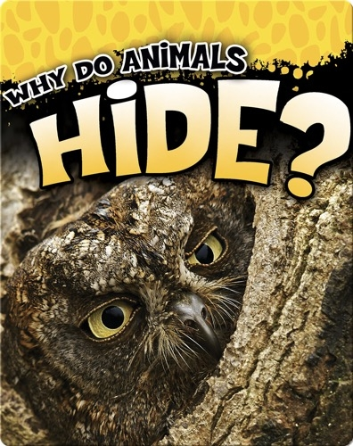 Why Do Animals Hide?