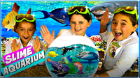 Real SLIME Aquarium! Learn How To Make A Slime Fish Tank with Ocean Sea Animals