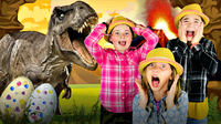 Fun Jurassic Dinosaur Eggs with REAL LIFE DINOSAURS!  Learn How to Make Dinosaur Eggs!