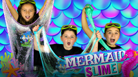 How to Make MAGICAL MERMAID SLIME with Sparkly Glitter!