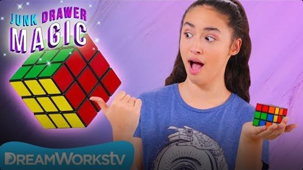 Rubik's Cube Explosion   JUNK DRAWER MAGIC