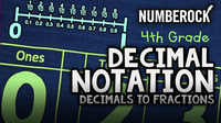Decimals to Fractions Song | Decimal Notation