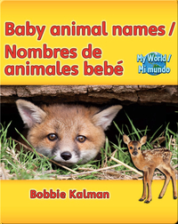 Baby animal names / Nombres de animales bebé