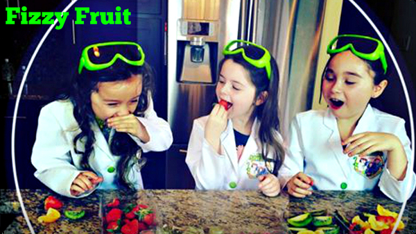 How to Make FIZZY FRUIT | Edible Science Experiments!