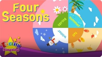 Kids vocabulary: Four Seasons - 4 Seasons in a Year