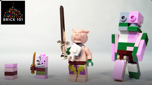 How To Build LEGO Minecraft Zombie Pigman