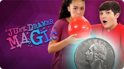 Coin in Balloon Trick | JUNK DRAWER MAGIC