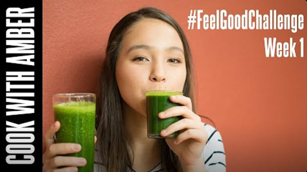 Favorite Green Smoothie & Green Juice | Cook With Amber