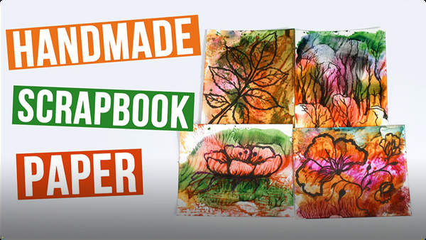 How to Make Scrapbook Paper Soap Watercolor Printing