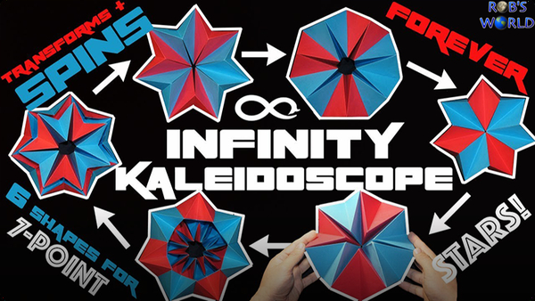 How to Make a Transforming INFINITY Kaleidoscope – Spins FOREVER!