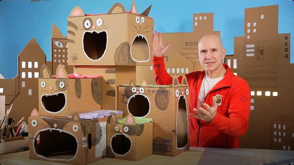 Catland: Cardboard Cat Maze