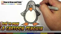 How to Draw a Cartoon Penguin