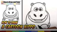 How to Draw a Cartoon Hippo