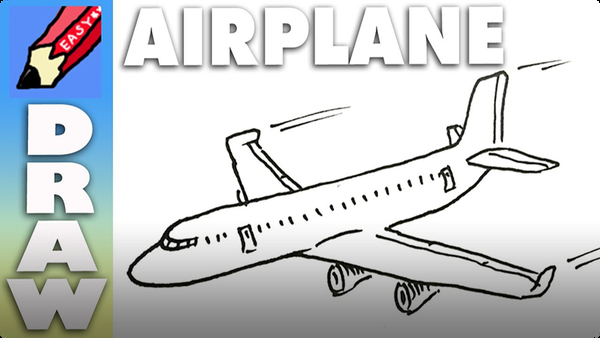 How to Draw a Plane Real Easy