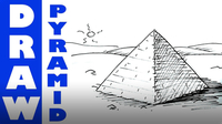 How to Draw a Pyramid Real Easy