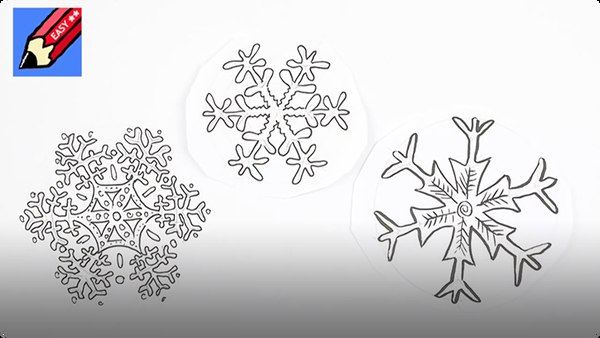 How to Draw Snowflakes Easily