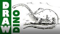 How to Draw a Cartoon Dinosaur - Brontosaurus