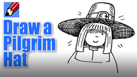 How to Draw a Pilgrim Wearing a Hat