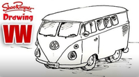How to Draw a VW Camper Van
