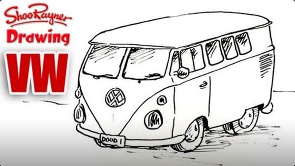 How to Draw a VW Camper Van