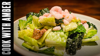 Caesar Salad with Kale and Baby Shrimp | Cook With Amber