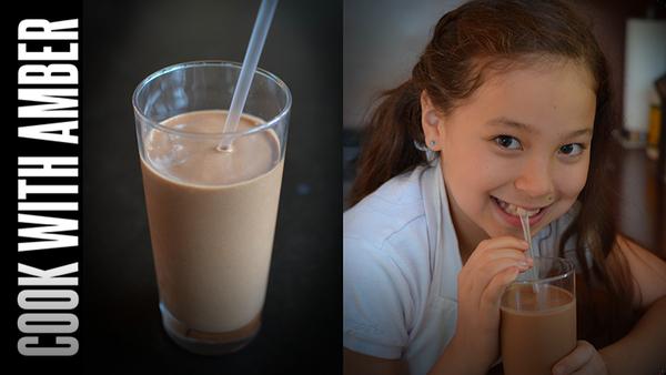 No-Guilt Chocolate-Banana-Peanut-Butter-Milkshake | Cook With Amber