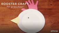Rooster Craft for Kindergarten