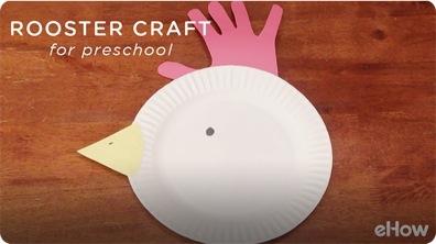 Rooster Craft for Kindergarten